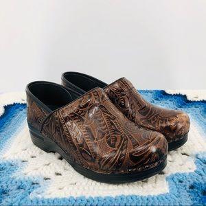 Dansko Professional Embossed Leather Clog Mules